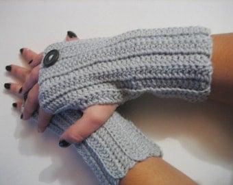 women gloves women fingerless gray fingerless Crochet Fingerless Glove Wrist Warmer Gauntlet  Gray Mittens, Accessory