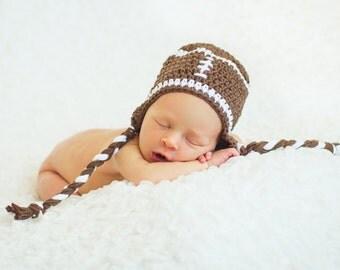 Newborn Football Hat - Newborn Photo Prop