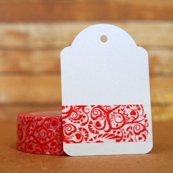 Red Flourish Washi Tape