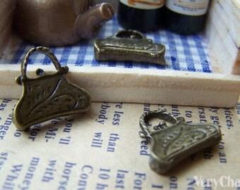 20 pcs of Antique Bronze Purse Frame Handbag Charms Pendants 14x15mm A3340