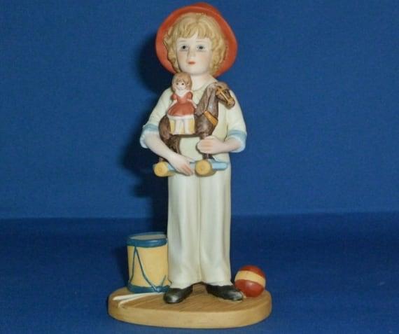 Jan Hagara Figurines: Jan Hagara Figurine Jody And The Toy Horse No. 7067