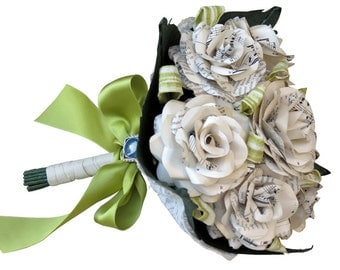 Music Sheet Roses - Wedding Bouquet