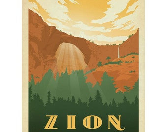 Zion National Park Utah Wall Decal #42255