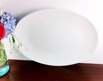 Vintage Oval Melamine White  Platter