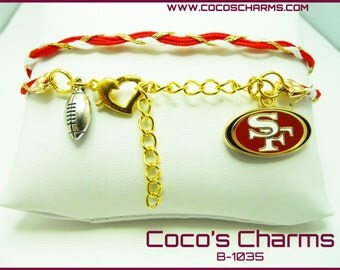 SF 49ers Bracelet - NFL /  B-1035
