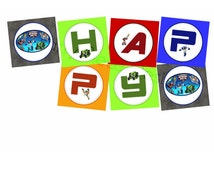 Rescue Bots Personalised Birthday Banner - Printable File