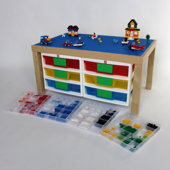 large play table for construction toys with 6 by vinestreetmaker. Black Bedroom Furniture Sets. Home Design Ideas