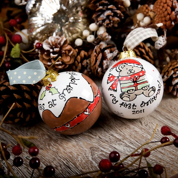Items Similar To Personalized Ceramic Christmas Bauble