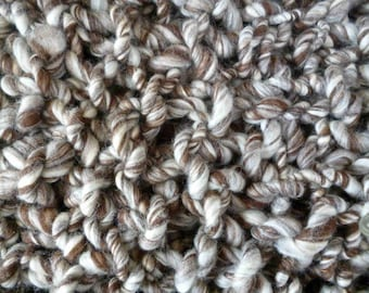 Humbug Super Chunky Blanket Handknitted with Blue Faced Leicester Handspun Yarn