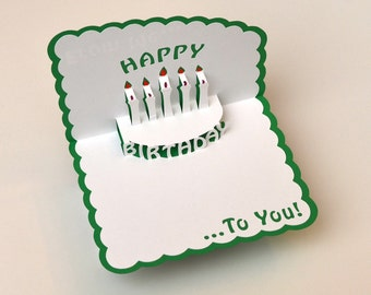 d pop up cards  etsy, Birthday card