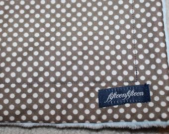 Mini Minky Blanket-Grey Dot CLEARNACE