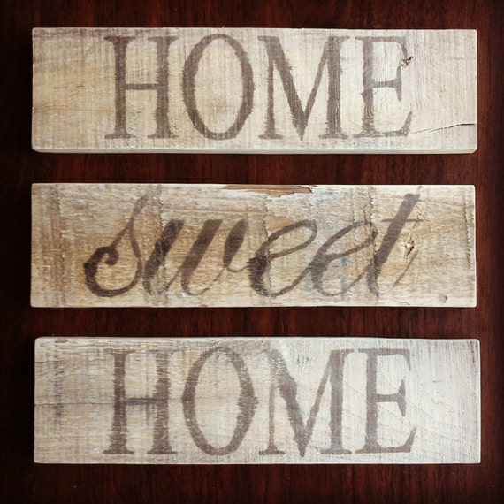 Items similar to Rustic Home Sweet Home Signs on Etsy