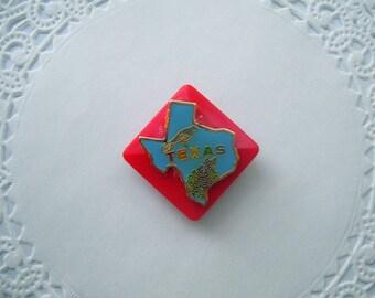 Texas Refrigerator Magnet (234) - Texas State Pin - Repurposed jewelry