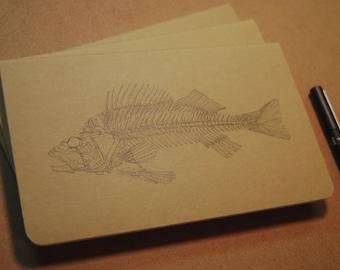 Drawn Perch Skeleton Moleskine Journal