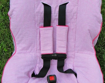 Custom Car Seat Cover with Matching Buckle Covers
