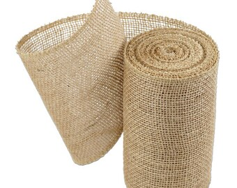 "6"" Natural Burlap Ribbon - 10 Yards (4 pack)"