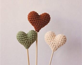 Item (b) - Crochet heart -  Wedding cake topper