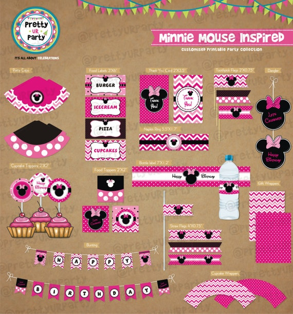 minnie mouse party printables pdf