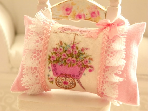 Shabby Chic Pillows Etsy : dollhouse shabby chic miniatures pillows