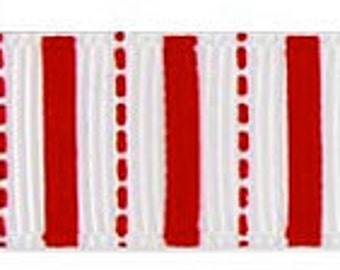 """Red Stripe 5/8"""" Grosgrain Ribbon by Riley Blake Designs STRS Red - By the Yard"""