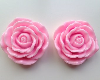 45mm Pink Flower Chunky Necklace Bead