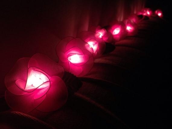 Pink Indoor String Lights : Fairy string lights - 20 Pink Flower String Lights Wedding Party Home Decoration,Indoor string ...