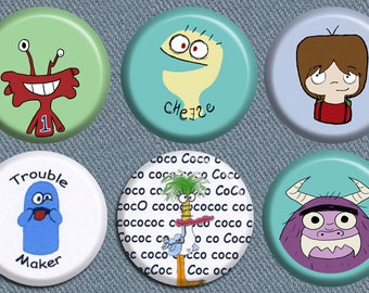 Foster's Home for Imaginary Friends Button Set