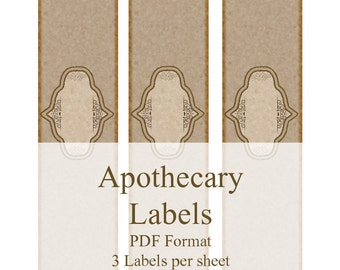 Apothecary Printable Soap Labels Vintage