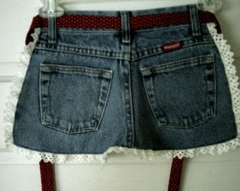 CLOSE OUT - FREE Shipping -Children's Arpon-Recycled Blue Jeans-Eyelet Trimmed