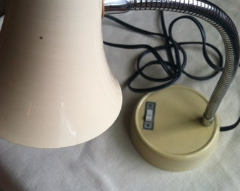 Small Beige Goose Neck Lamp