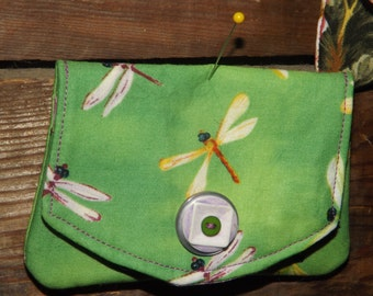 Green dragonfly purse/card holder