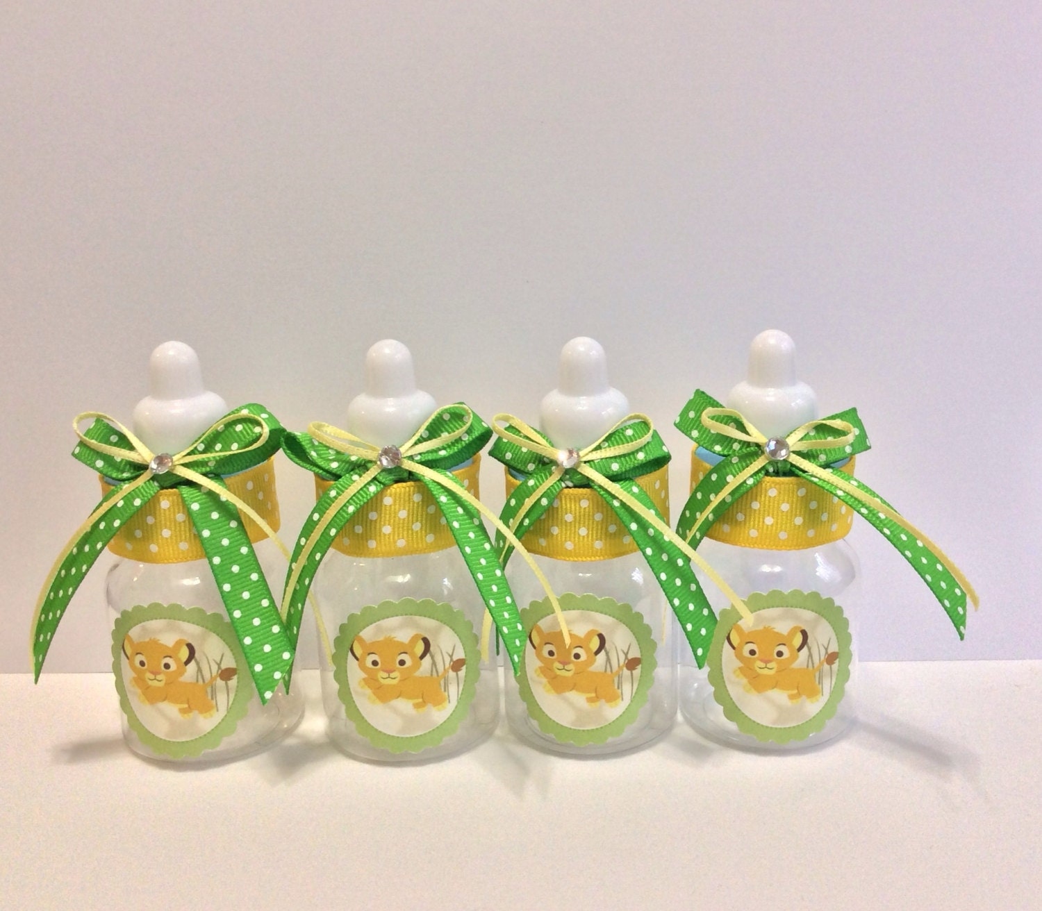 lion king baby shower baby bottles favors by marshmallowfavors