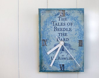 Harry Potter Wall Book Clock Beedle the Bard
