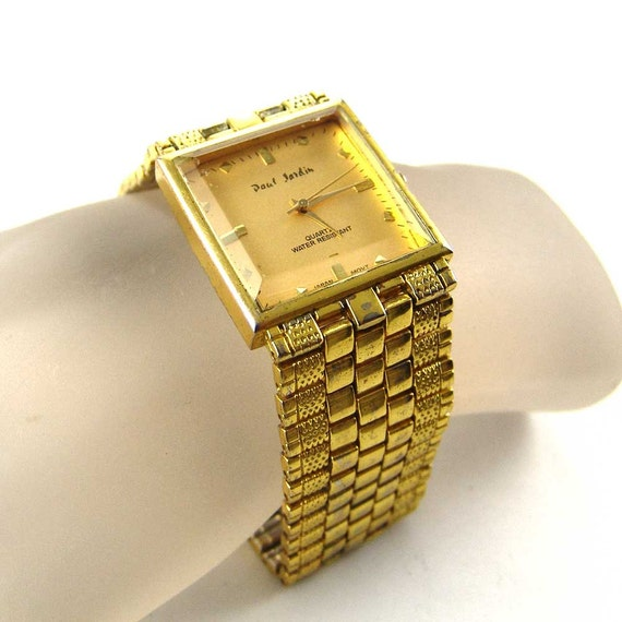Rare vintage men 39 s paul jardin quartz wristwatch square for Paul jardin quartz watch
