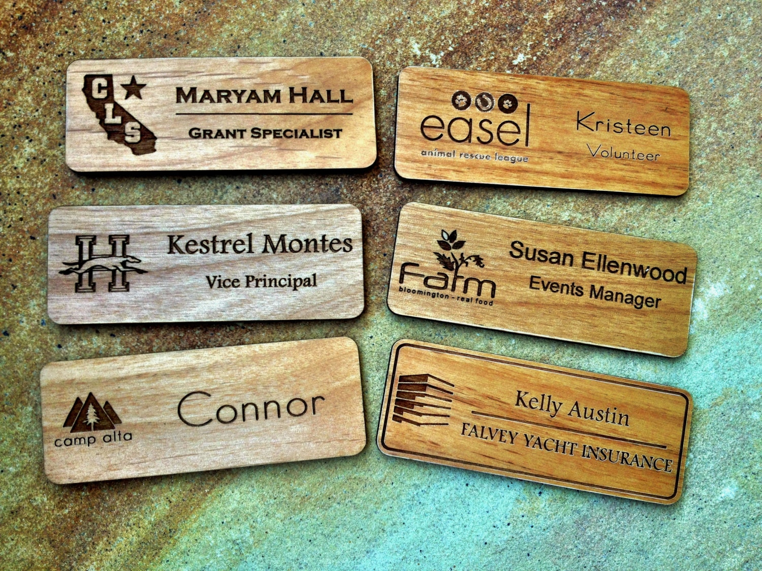 Name Badge: Custom Name Badges Engraved Name Tag With Logo By