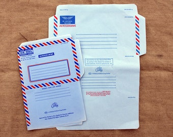 New Zealand Aerogram Air Mail Stationery - 2 Different Designs