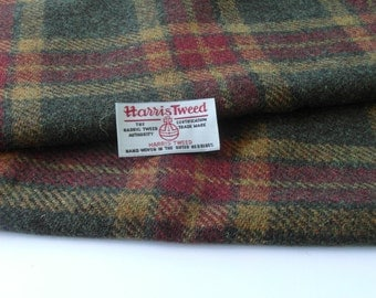 Authentic Harris Tweed Fabric Material For Craft Work 1 x piece various sizes Available  ref.f23