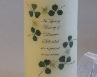 Irish Memorial Candle
