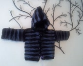 9-12 Month Hoodied Unisex Jacket. Goth Hoodie for halloween