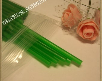 "50pcs 6"" x 5/32"" Plastic  Lollipop Sticks for Cake Pops - Green"