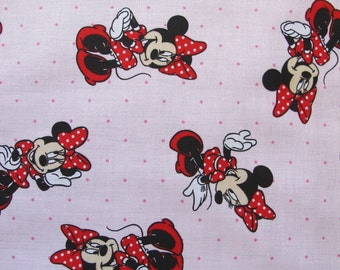 """1/2 yard of 100% cotton """"Minnie Mouse"""" Fabric"""