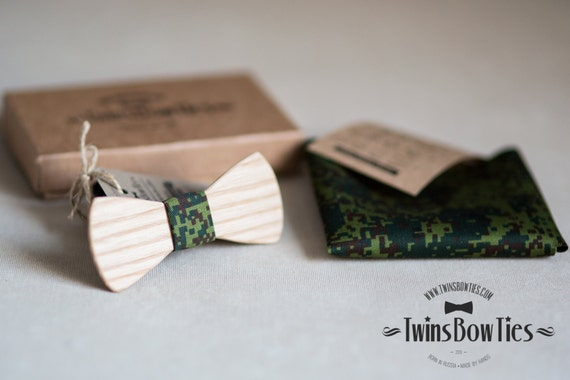 Wood bowtie Victory Classic  + pocket square. Man wooden bow tie. Men Accessories. Papillon. 100% hand made. Best personal gift.