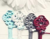 Cast Iron Key Hook / Iron Key / Skeleton Key / Wall Key Holder / Key Rack / Decorative Key Hook / Shabby Chic Wall Hook / Housewarming Gift