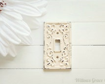 30 COLORS / Light Switch Cover / Light Switch Plate / Single Light Switch Cover / Shabby Chic Decor / French Country Decor / Customize
