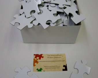 White Blank Puzzle Pieces for a Unique Wedding Guest Book.  Your choice of piece count.