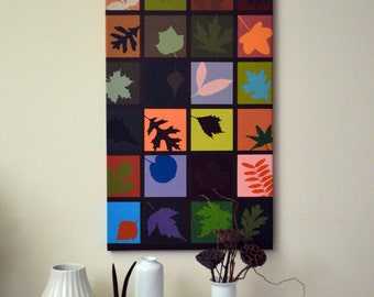 Silhouette Leaf Painting, Nature