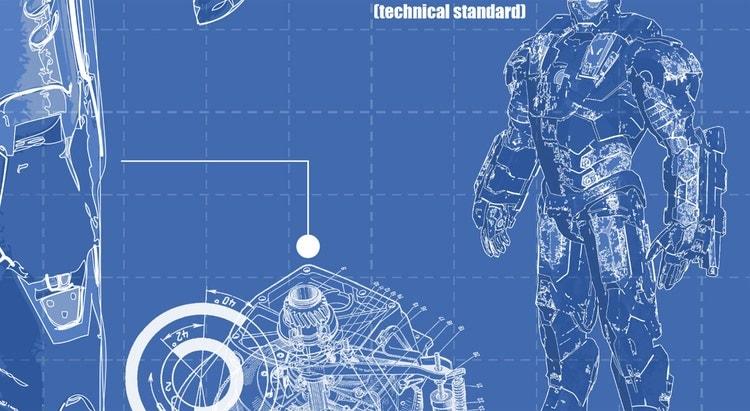 Iron Man War Machine Suit Blueprints 16x24 By Ryanhuddle On Etsy
