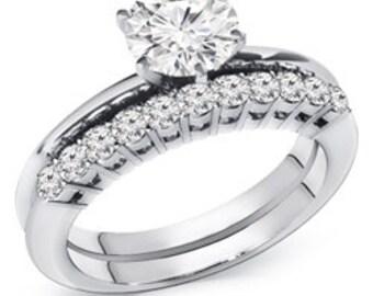 1.05 ct. tw. Diamond Wedding Engagement Set