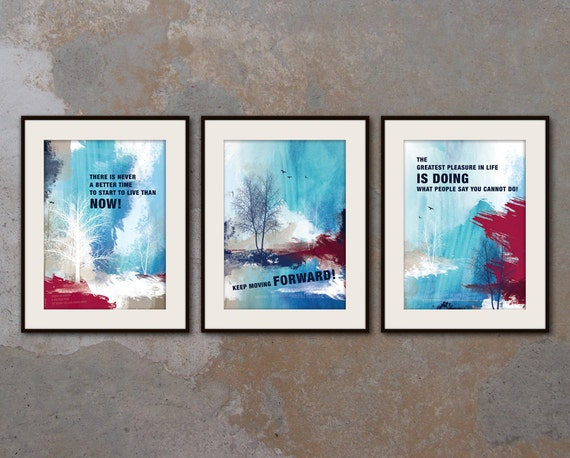 SET of 3 x A3 Inspirational poster