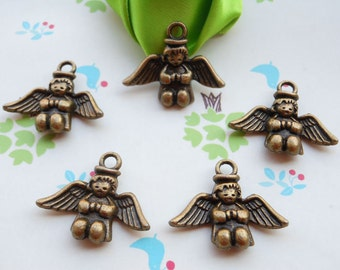 20pc Antique bronze Metal Angel Charms, Jewelry Supplies, Charms 20mmx25mm